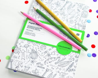 Set of 2 A5 Children's Colour-In Cover Notebooks or Journals