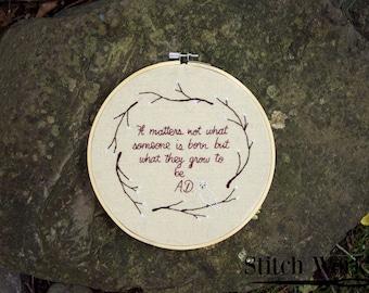 Harry Potter Hoop - 8 in Hoop - Home Decor - Albus Dumbledore Quote