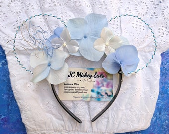 Periwinkle inspired Floral Wire Mickey Ears