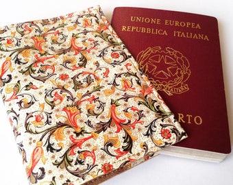 Passport holder florentine paper orange