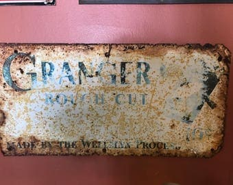 Vintage Granger Tobacco Sign