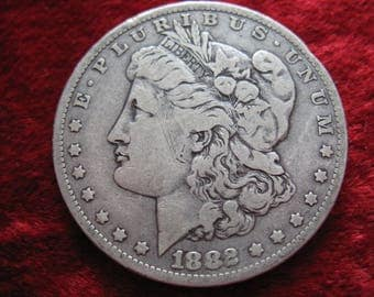 1882-O Morgan Silver Dollar, BETTER GRADE Original Condition!