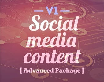 Version one social media content advanced package social media planner facebook twitter instagram social media marketing digital marketing