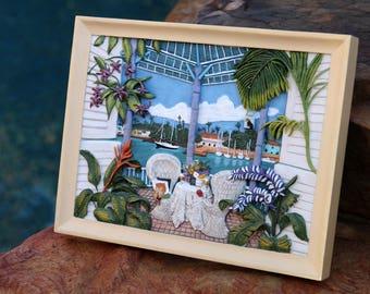 Framed Art   Tropical Pool Patio Decor   Sherry Hatchett Bohlmann   Beach  Lover Decor