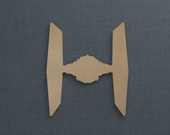 Star Wars, TIE Fighter, Wood Cutout, Unfinished Sign