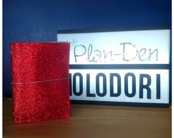 Glitter Holodori - Holodori Tn, Travellers Notebook, Holographic Tn, holo Tn, iridescent TN, holographic, Glitter tn, glitter notebook