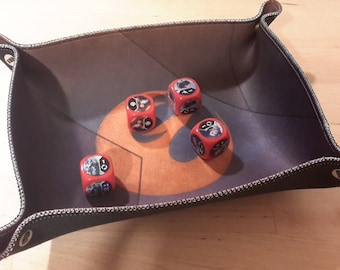 Phoenix Squadron Print Collapsible Dice Tray with Sewn Edge