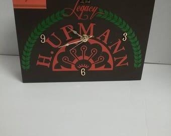 Cigar box clock
