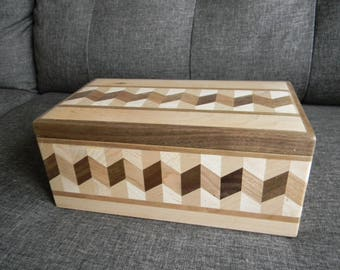 SALE! Wooden Jewelry Box (Large Size)