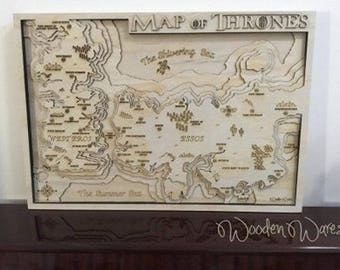 Game of Thrones Map - Layered Plywood - Made in Brisbane Australia