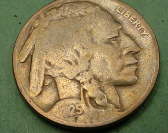 1925 Buffalo Nickel   Fine FREE SH In United States # ET817
