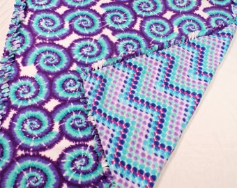 Tie Dye Bedding - Tie Dye Decor - Tie Dye Blanket - Tie Dye Throw - Girls Tie Dye - Gift for Her - Girls Bedroom Decor - Girls Bedding