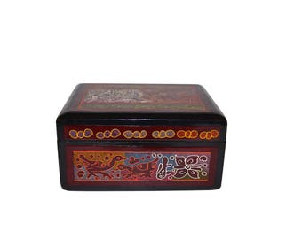Olinala Rectangle black lacquer box