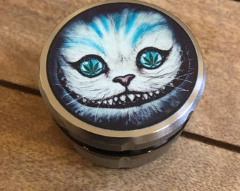 Chesire cat custom herb grinder