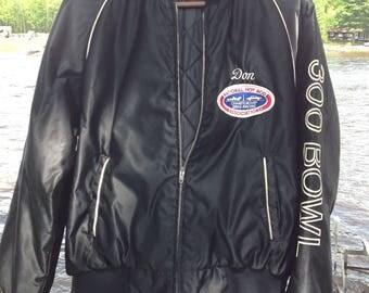 Vintage Bomber Jacket / Drag Racing Team Jacket / Top Fuel Racing Team Jacket