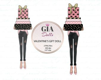 Valentine's day clipart, valentines clipart, love clipart, hearts clipart ,romantic clipart,giadolls,png