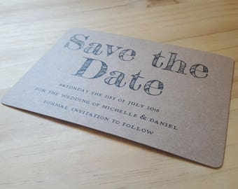Recycled Rustic Bespoke Save the Date