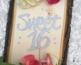 Sweet Sixteen Cake Topper * Sweet 16 * Happy Birthday * 16th Birthday * Birthday Cake Topper * Happy 16th Birthday * Special Occasion *