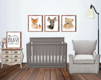 Wild One Painting Collection - Be Brave, Fox, Moose, Bear: INSTANT DIGITAL DOWNLOAD