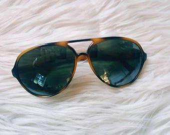 Vintage 90s sunglasses. Funky aviator nylon frame sunglasses