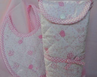 Quilted fabric feeding bottle