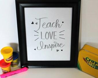 SALE, Teach, Schoo Inspirational Wall Art