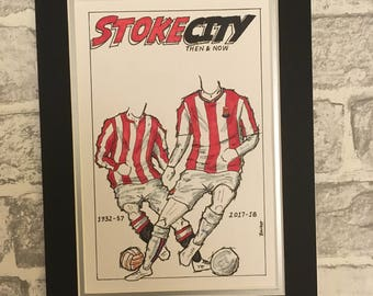 Then & Now A4 prints: Stoke City, Inter Milan, West Bromwich Albion