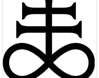 Alchemical Symbol for Sulfur aka Leviathan Cross All-Weather Decal