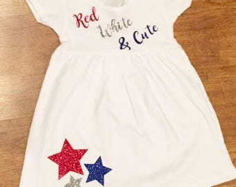 Red, White and Cute Dress