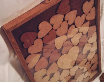 Rustic Personalised Wedding Token Guest Books engraved