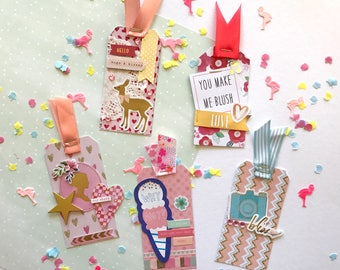 Embellished tags / weheartconfetti