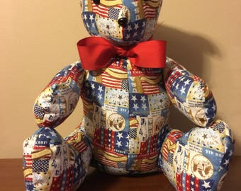 Red, White, & Blue - Patriotic - 4th of July - Stuffed Teddy Bear