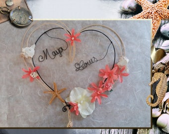 """Wall decor - """"A heart at the beach"""""""