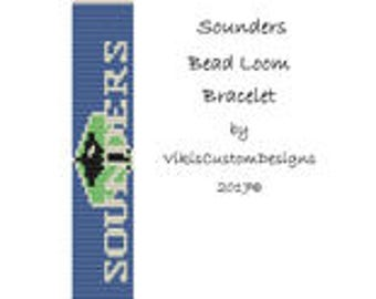 Sounders Bead Loom Bracelet Pattern by VikisCustomDesigns