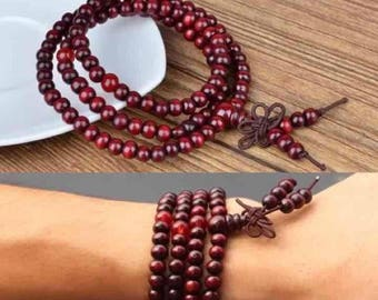 Red Mala Buddha Bracelet