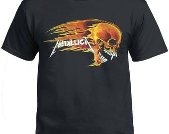 Metallica fire skull T-shirt