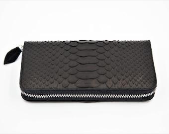 snakeskin wallet, python wallet, snakeskin purse, python purse, wallet, purse, black purse, black wallet