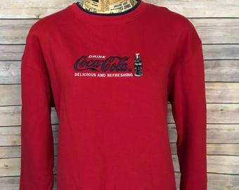 Vintage Coca-Cola Embroidered Sweatshirt (XL)