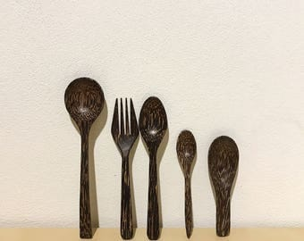 Set of Wooden Cutlery handmade