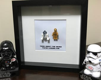 Star Wars Droids Minifig Shadowbox - R2-D2 and C-3PO