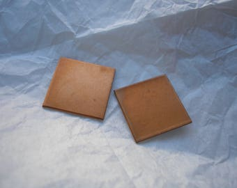 "Copper Rectangles 7/8"", Metal Blanks,  Pack of 2, Copper Shape for Enameling, Copper Enameling Supply, Metal Stamping, Jewelry Making, Metal"