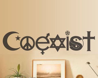 Coexist Design wall sticker , wall decal, wall sticker  lounge, bedroom decor lounge