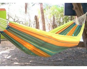 Handmade hammock double yellow