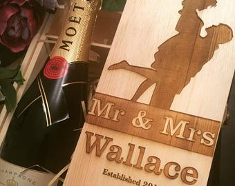 Wallace engraved wine box