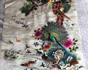 Hand Embroidered silk Tapestry