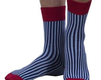 Heathcoat men's luxury crew sock in navy | English made for seriouslysillysocks