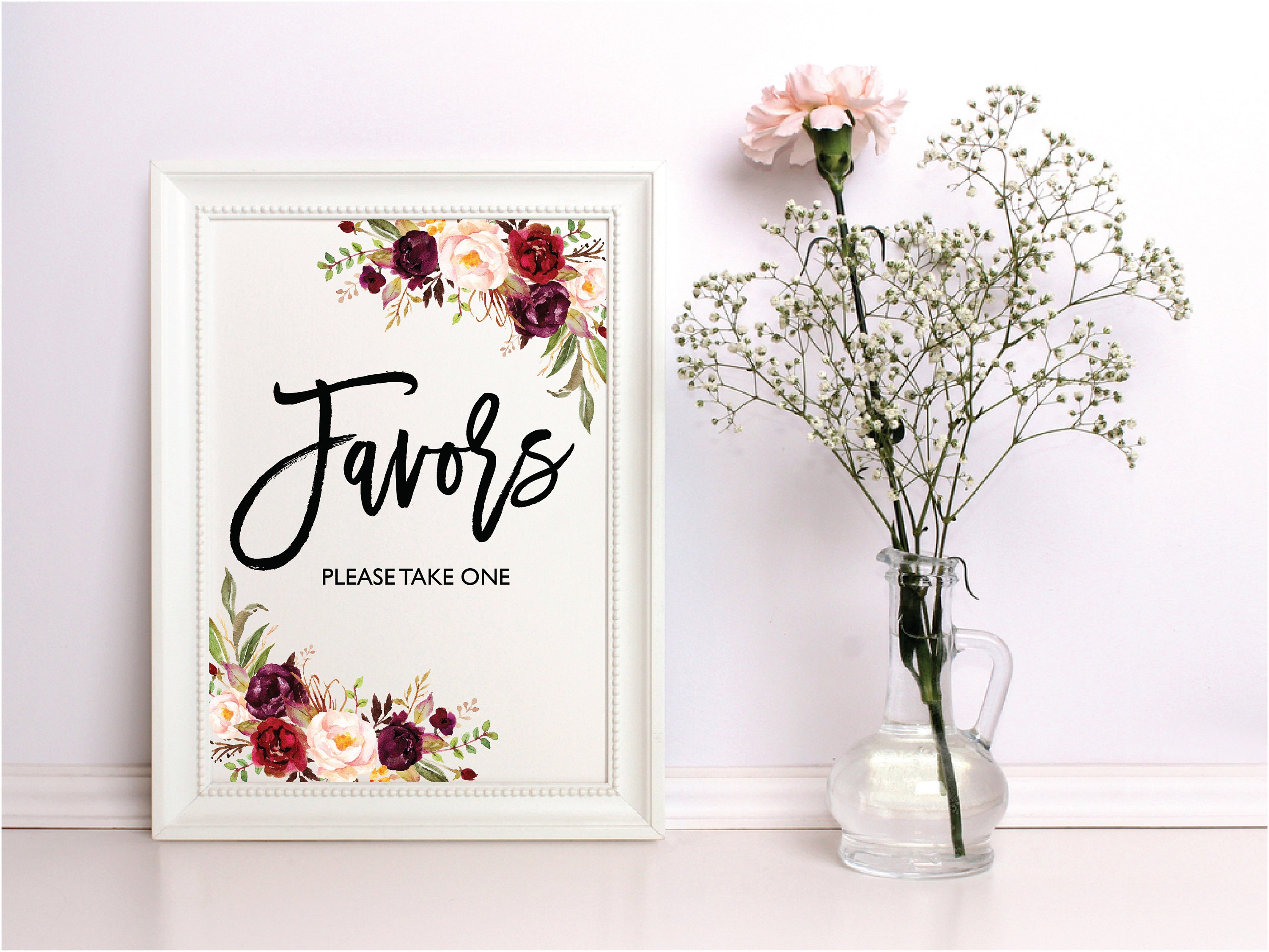 Wedding Favors Sign, Wedding Signs Set, Favors Please Take One Sign ...