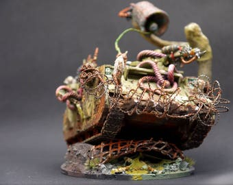 Nurgle Death Guard Dark Imperium 40K Rhino Tank, Sculpted, and Painted to Order.