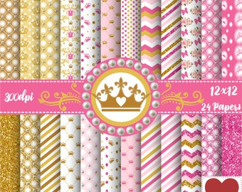 Princess Royal Digital Paper Kit Digital Princesa Realeza