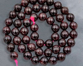 Natural Red Garnet Beads, Red Beads, Red Gemstone Beads, Spacer Beads, Round Natural Beads, 4mm 6mm 8mm 10mm